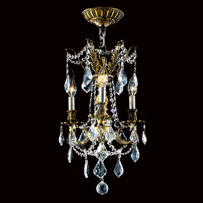 Windsor 3 Light Crystal Chandelier