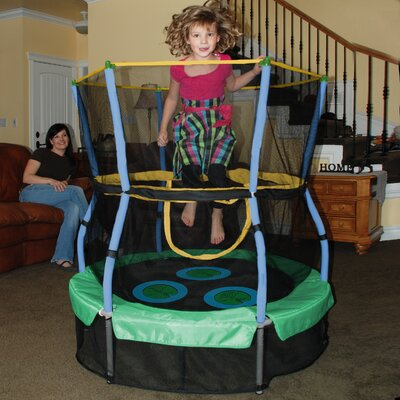 "Skywalker Trampolines Lily Pad Adventure Bouncer 40"" Trampoline with Enclosure"