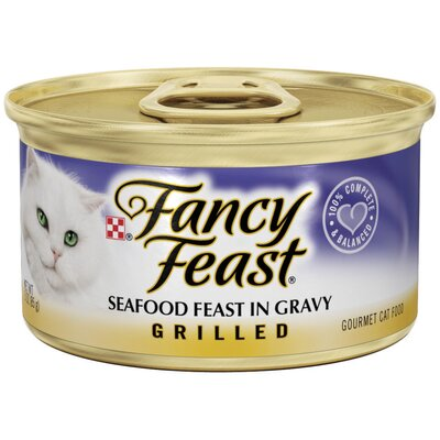 Fancy Feast Grilled Seafood Cat Food Wet Cat Food (3-oz can,case of 24)