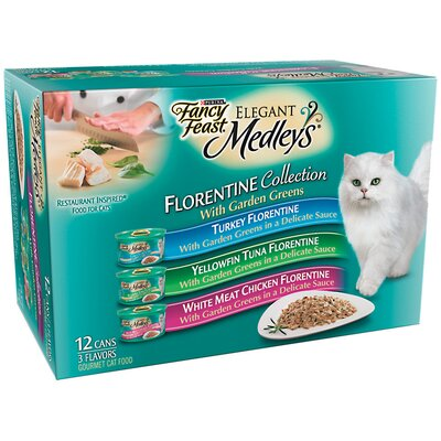 Elegant Medley Florentine Variety Pack Canned Cat Food (Case of 2)
