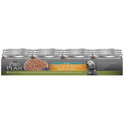 Classic Puppy Chicken and Brown Rice Entree Wet dog Food (5.5-oz, case of 24)