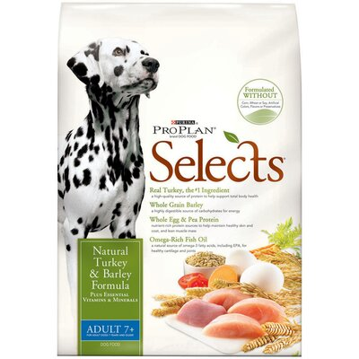 Pro Plan Selects Senior Turkey and Barley Dry Dog Food (17.5-lb bag)