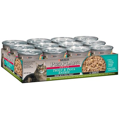 Pro Plan Trout and Pasta Entrée Cat Food in Sauce (3-oz, case of 24)
