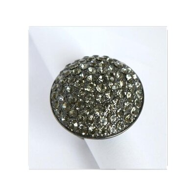 Gunmetal Black Crystal Pave Oversized Stretch Ring
