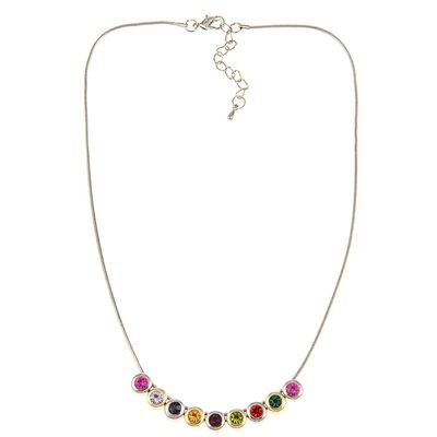 Trendbox Jewelry Two-tone Crystal Slide Necklace