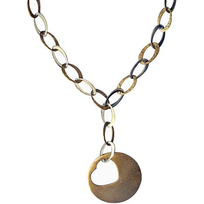 Trendbox Jewelry Two-tone Heart Necklace