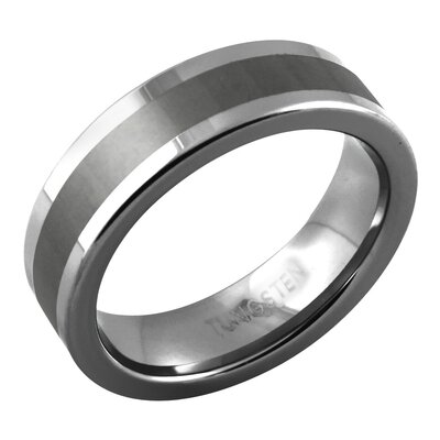 Men's Satin Stripe Band Ring