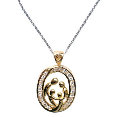 Trendbox Jewelry Cubic Zirconia Family Celebration Necklace Pendant