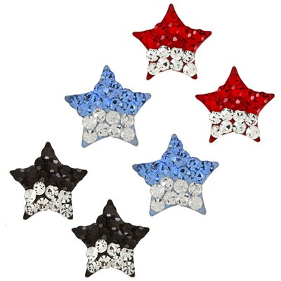 Trendbox Jewelry Crystal Star Stud Earrings