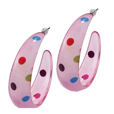 Trendbox Jewelry Polka Dot Hoop Earrings