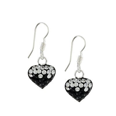 Trendbox Jewelry Crystal Heart Dangle Earrings