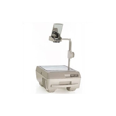 Buhl Portable Open Head Double Lens 3000 Lumens Overhead Projector with Fold Down Arm and Lamp Changer