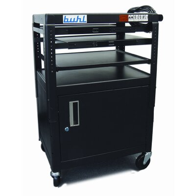 Buhl Height Adjustable AV Media with Security Cabinet