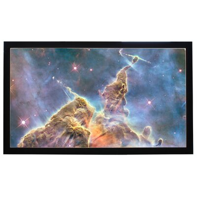 "Buhl Matte White 100"" Diagonal Fixed Frame Projection Screen"