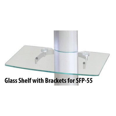 Buhl Glass Shelf for SFP-55 Rolling Flat Panel TV Stand