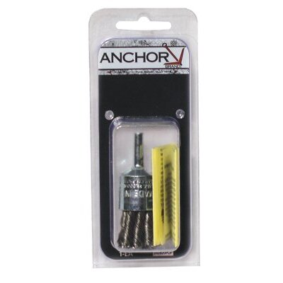 "Anchor End Brushes - 3/4"" crimp end brush coarse eba-21 .020"