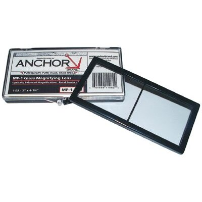 Anchor Magnifiers - 2x4-1/4 glass magnifier lens 1.75 diopter