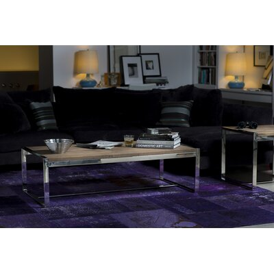 Mobital Motif Reclaimed Elm Wood Coffee Table Set