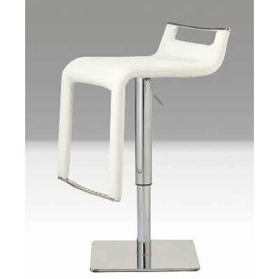 Mobital Diablo Hydraulic Leatherette Bar Stool with Steel Base