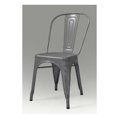 Metallica Perforated Metal Dining Chair (Set of 4)
