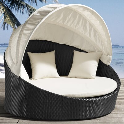 dCOR design Colva Outdoor Canopy Bed with Cushions