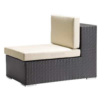 dCOR design Cartagena Outdoor Armless Deep Seating Chair in Chocolate
