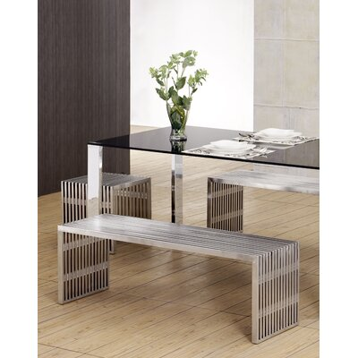 dCOR design Novel Stainless Steel Entryway Bench