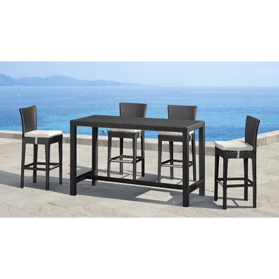 dCOR design Anguilla Height Outdoor Bar Table