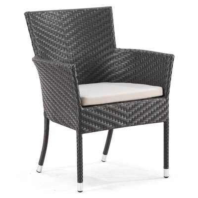dCOR design Valtos Outdoor Dining Arm Chair with Cushion