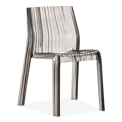 dCOR design Ruffle Chair in Transparent Grey