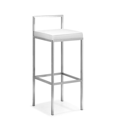 dCOR design Industry Barstool in White