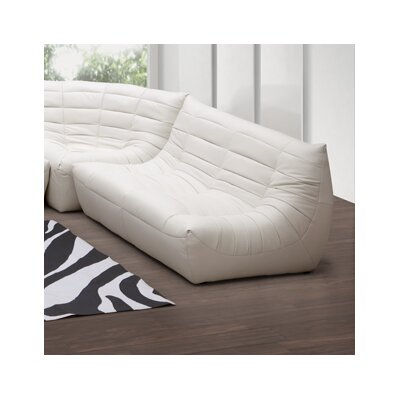 dCOR design Carnival Leatherette Loveseat