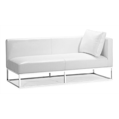 dCOR design Atom Right Facing Bi-cast Leather Bench