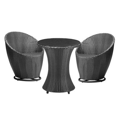 dCOR design Cabo 3 Piece Dining Set