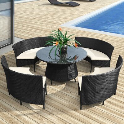 dCOR design La Barrosa 5 Piece Dining Set