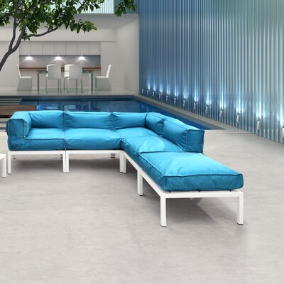 dCOR design Copacabana Sectional Deep Seating Group with Cushions