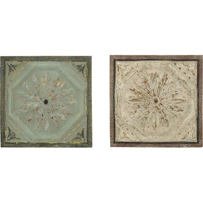 <strong>Woodland Imports</strong> Décor 2 Piece Roman Floral Wall Décor Set