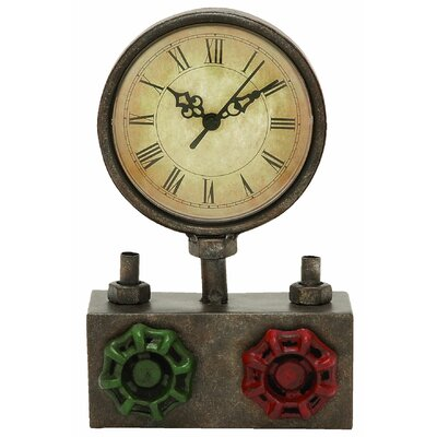 Round Face Metal Clock