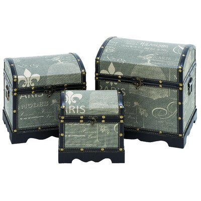Woodland Imports Paris Treasure Box (Set of 3)