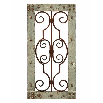Woodland Imports Antiqued Panel Wall Décor