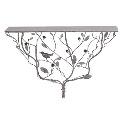 Shelf in an Exquisite Design of Twisted Branches and Leaves
