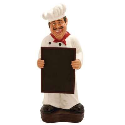 Chef with Menu Board Statue