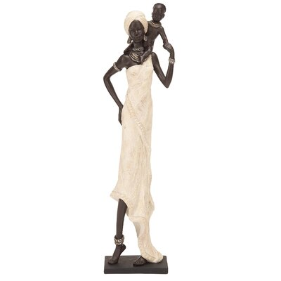 Woodland Imports Polystone Table Top African Figure Sculpture