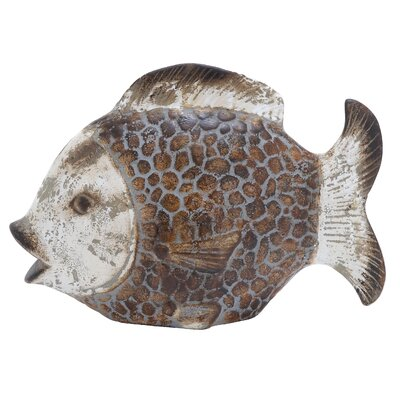 Woodland Imports Ceramic Fish Statue