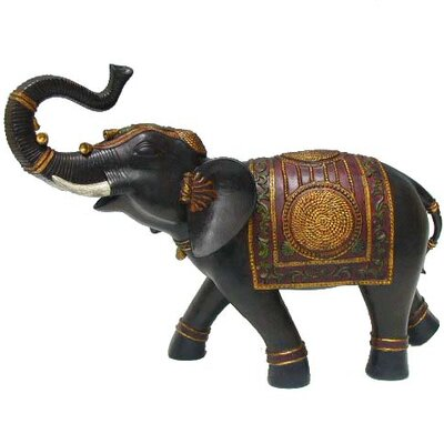 Alluring Resin Elephant Statue with Blanket
