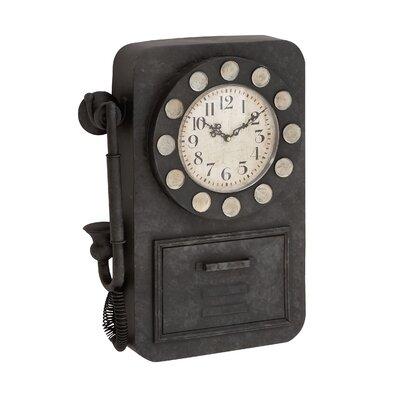 Eye-Catching Antique Metal Wall Clock