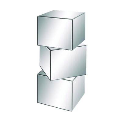 Elegant and Dalian Stylish Cube Mirror Pedestal