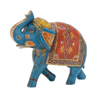 The Inspiring Wood Painted Elephant Statue