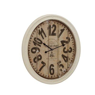 Buckingham Contemporary Styled Metal Wall Clock