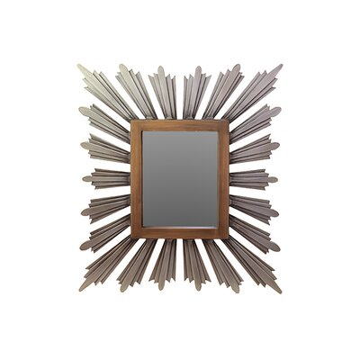 Sleek and Splendid Contemporary Design Wooden Mirror